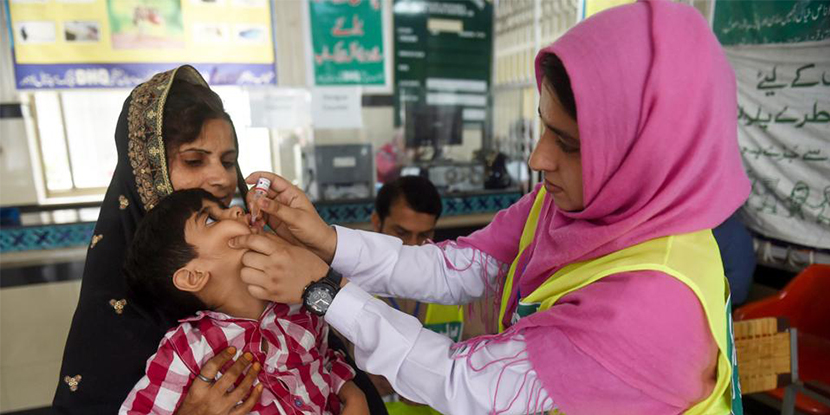Polio cases in Pakistan
