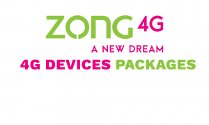 Zong internet Device Packages