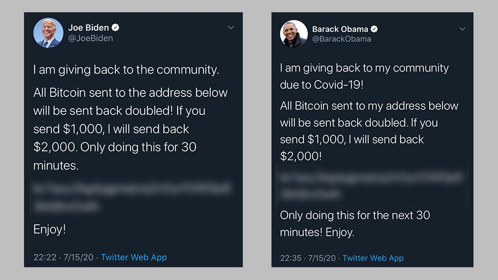 Bitcoin Scam Tweets