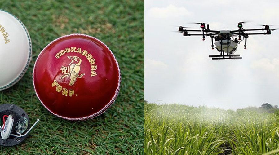 agricultural drones cricket balls