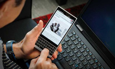 BlackBerry 5G keyboard
