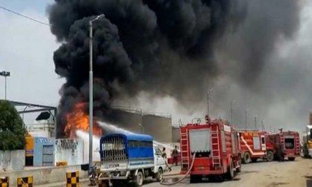 Keamari petrol fire
