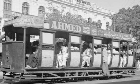 Turkey tram in Karachi