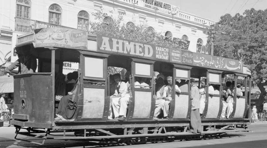 Turkey tram in Karachi
