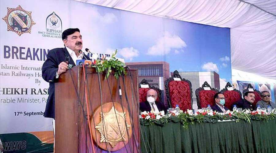 Sheikh Rashid speaking