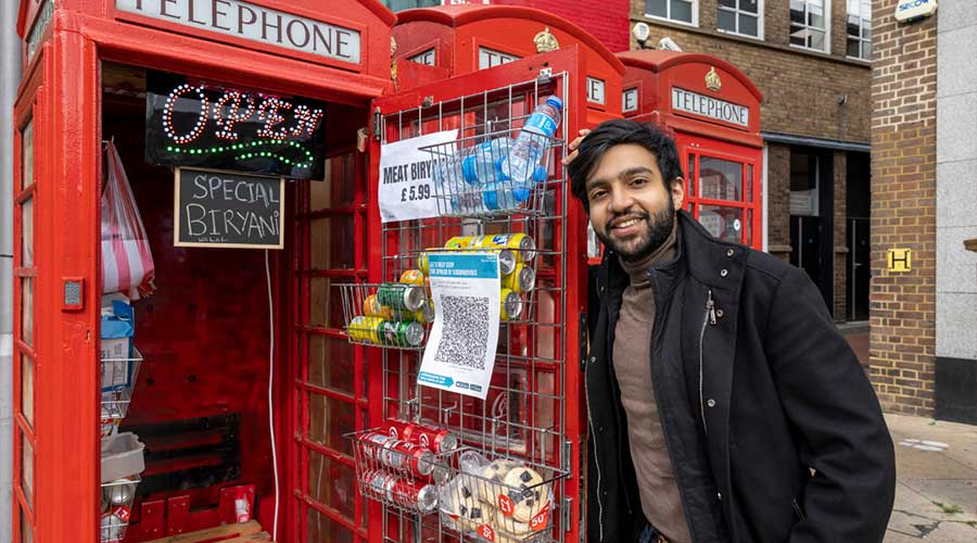 Pakistani entrepreneur phone booths
