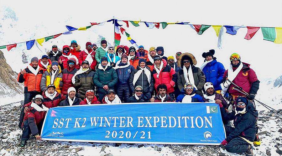 Nepalese climbers K2