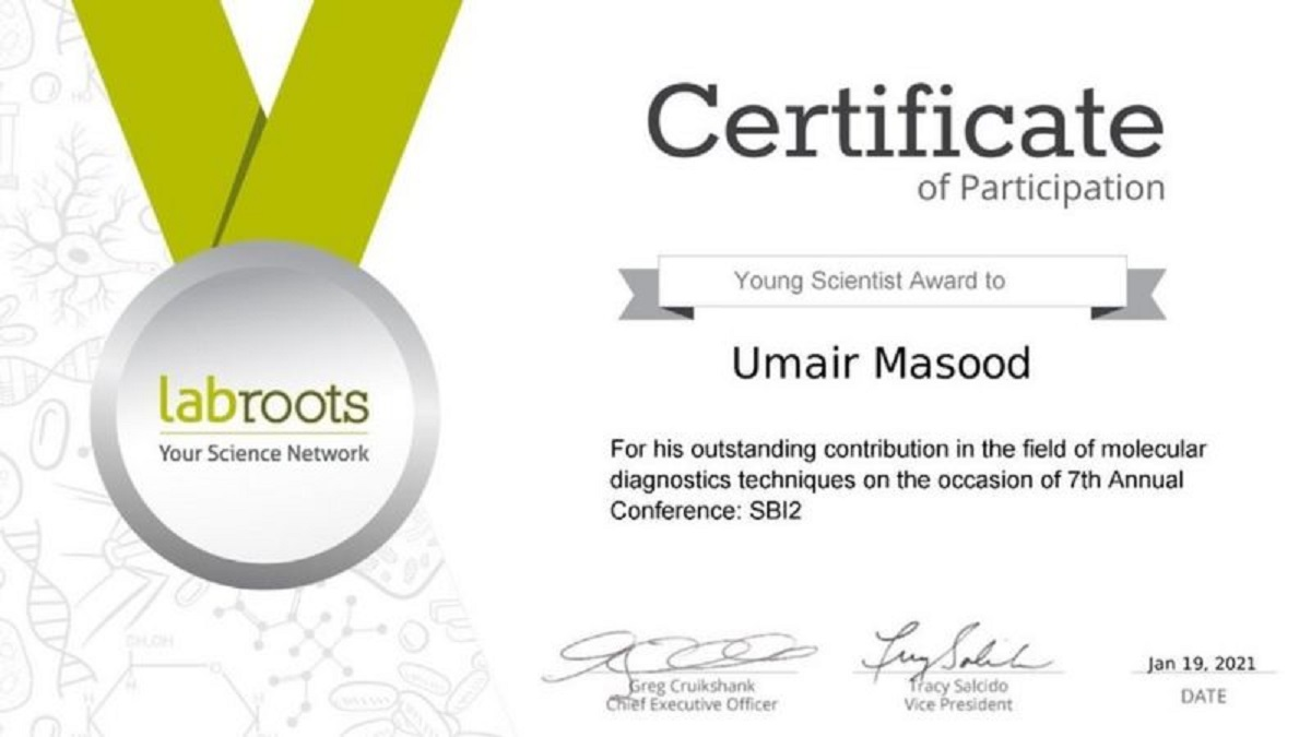 Young Scientist Award 2021
