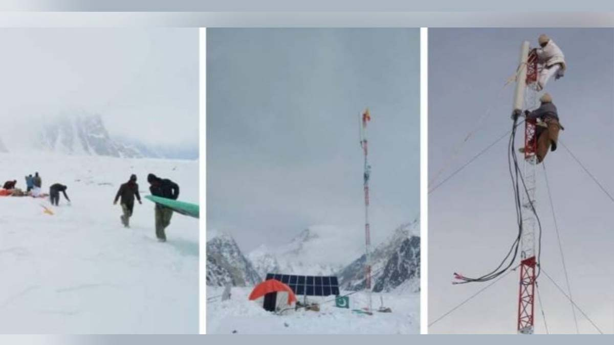 phone tower at K2