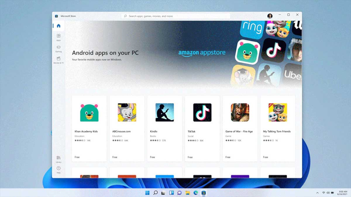 Android Windows 11