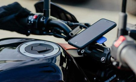 iPhone on motorcycle